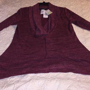 Lightweight cowl neck sweater top